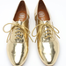 If you're more of a golden gal, then these Jeffrey Campbell Gold Oxfords ($110) have your name written all over them.