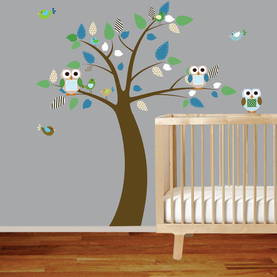 Tree and Owl Decal