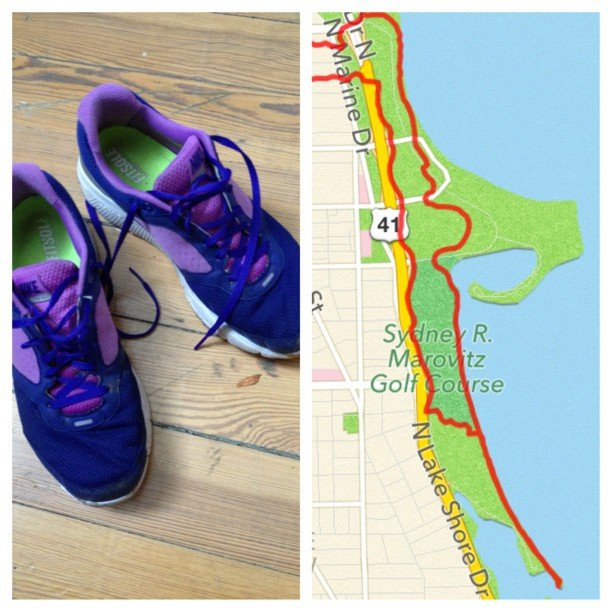 This reader gave us a snap of her shoes and daily run. Source: jenwen80