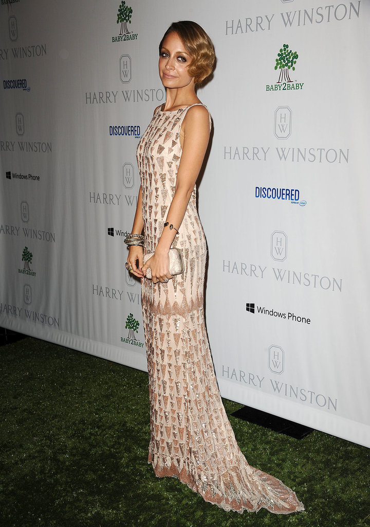 Nicole Richie struck a pose in an embellished gown.