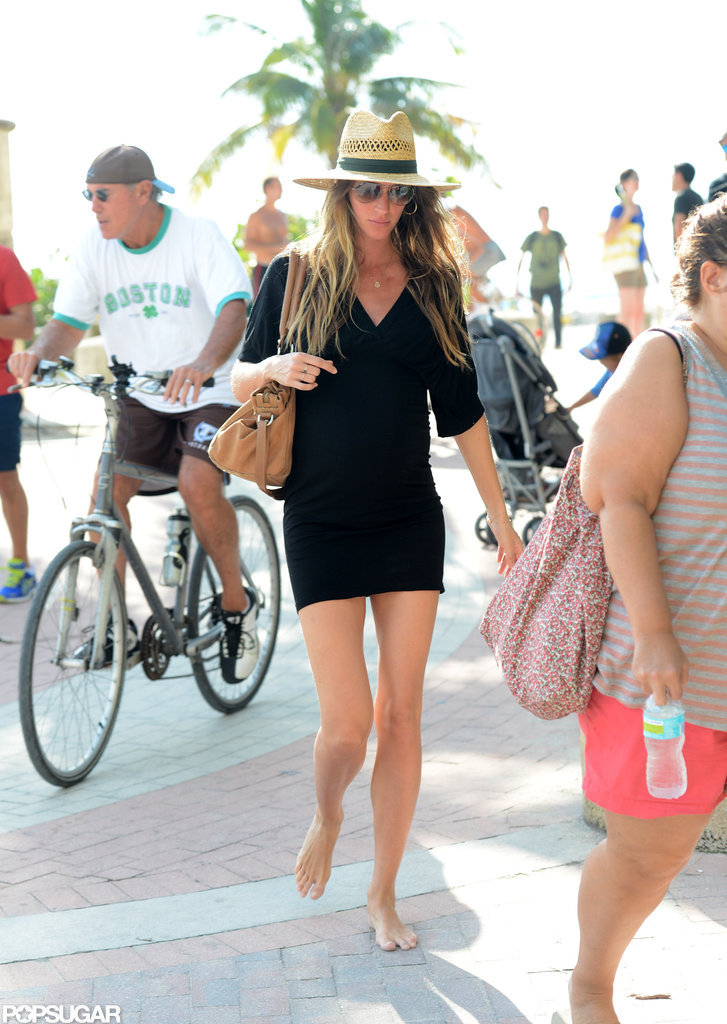 Pregnant Gisele Sports a Bikini and Enjoys Miami With Tom Brady!
