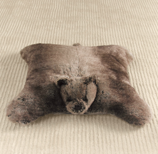 For Newborns: Faux-Fur Floor Pillow