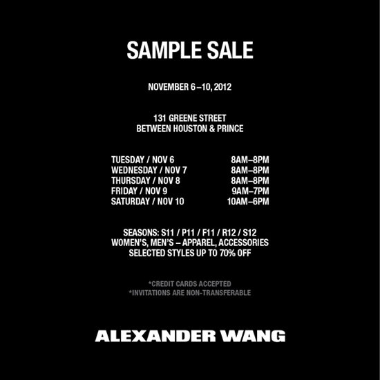 Alexander Wang Sample Sale