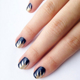 Paint Your Own Golden Starburst Nail Art Design