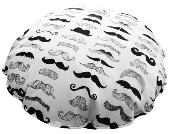 Mustache-Printed Pet Bed