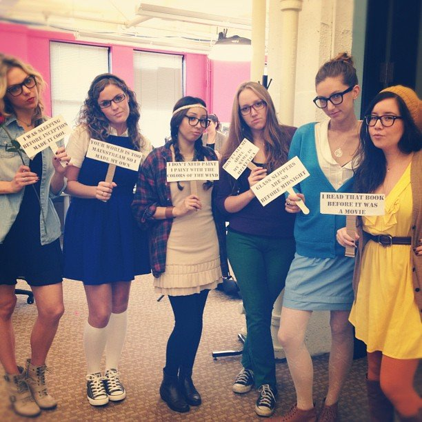TrèsSugar's Annie and Tara spearheaded a Disney hipster princesses group costume.