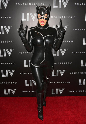 Catwoman Kim Kardashian pulled off the Michelle Pfeiffer-inspired Catwoman costume.