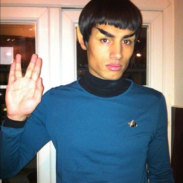 Spock The Wanted member Siva Kaneswaran molded his eyebrows into perfect Spock replicas. Source: Twitter user SivaTheWanted