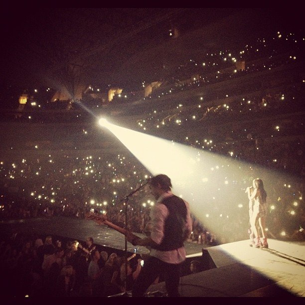 Carly Rae Jepsen showed fans what it looks like from the other side of the stage. Source: Instagram user carlyraejepsen