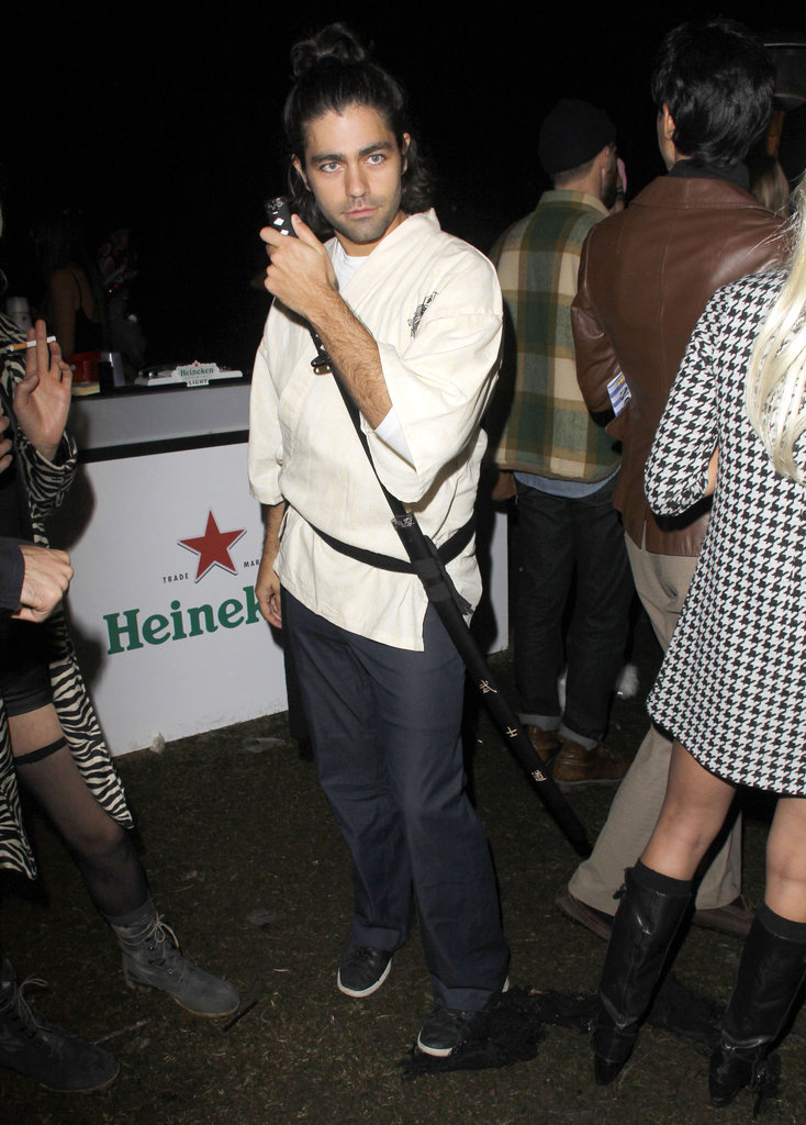 Adrian Grenier dressed up at the Hollywood Forever Cemetery.