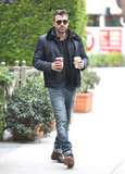 Ben Affleck hit a neighborhood Starbucks.