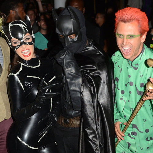Kim Kardashian & Kanye West Batman And Catwoman Halloween