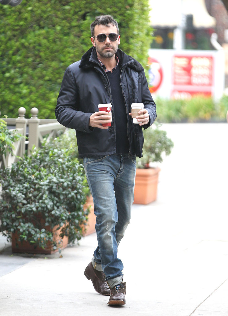 Ben Affleck made a morning coffee run.