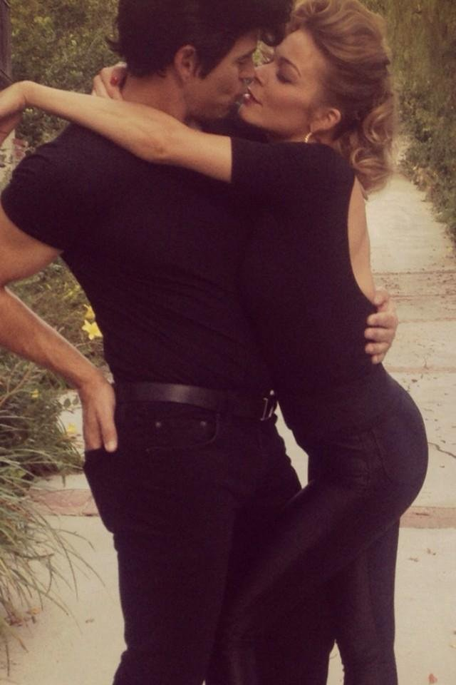 LeAnn Rimes and Eddie Cibrian shared a sexy kiss while in character. Source: Twitter user leannrimes