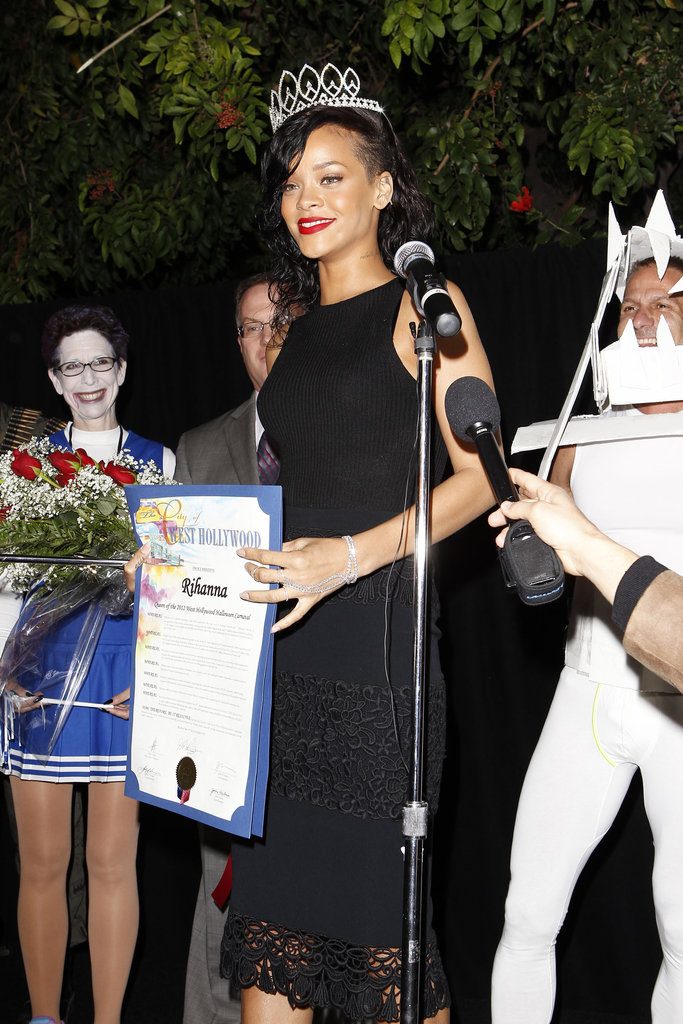 Rihanna was crowned Queen at her Halloween party in LA.