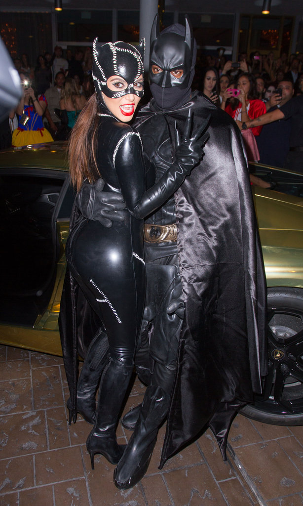 Kim Kardashian and Kanye West Couple Up in Batman Costumes