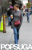 Katie Holmes made a solo coffee run.