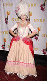 Debra Messing wore an elaborate outfit to NYRP's Halloween Benefit Gala in NYC Wednesday.