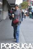 Katie Holmes took a walk in the Big Apple.