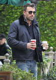 Ben Affleck followed up his Halloween festivities with some coffee.