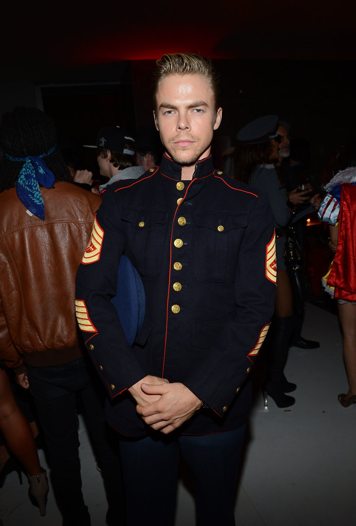 Derek Hough wore a general uniform for an LA party on Wednesday.
