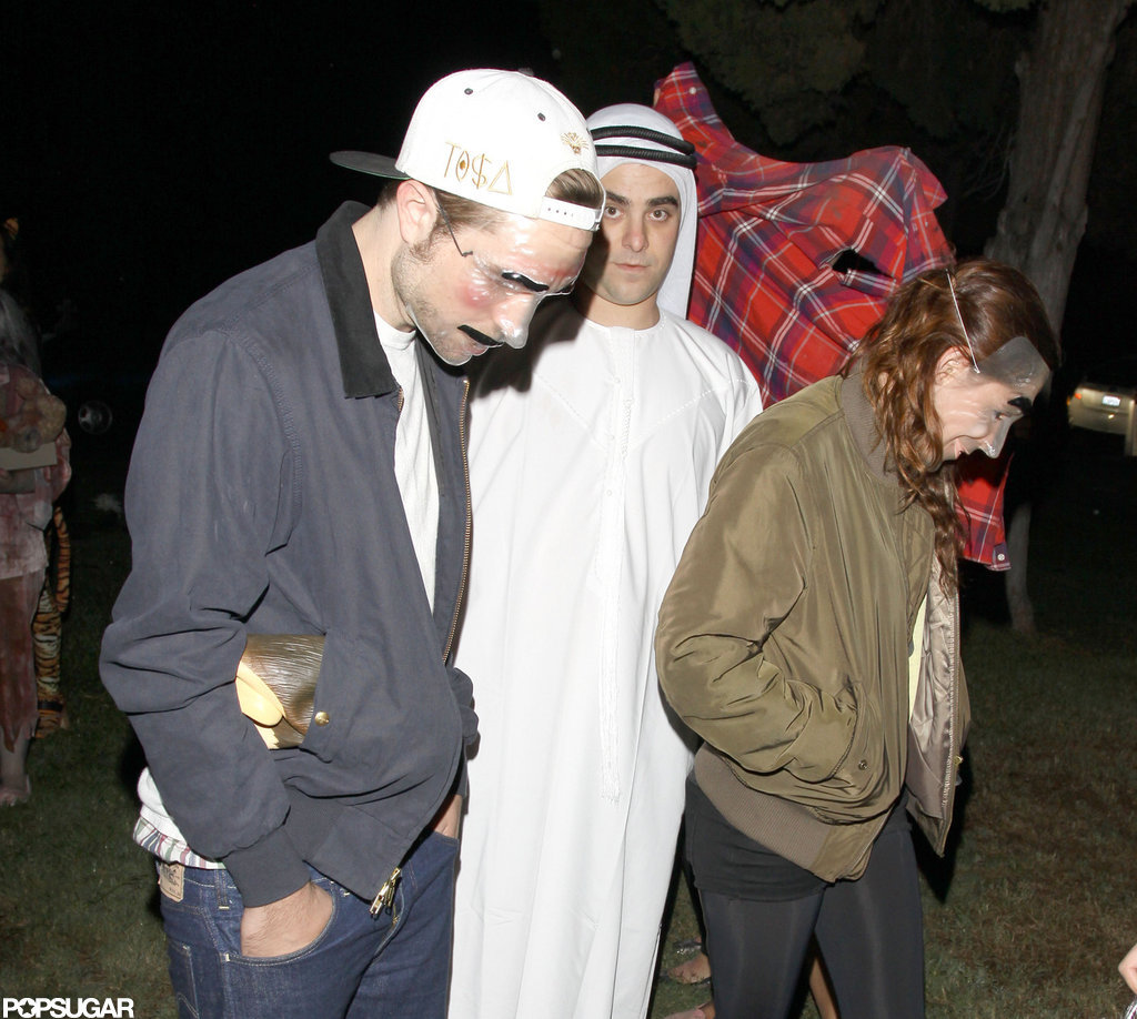 Robert Pattinson and Kristen Stewart wore masks to celebrate at Hollywood Forever Cemetery on Wednesday.