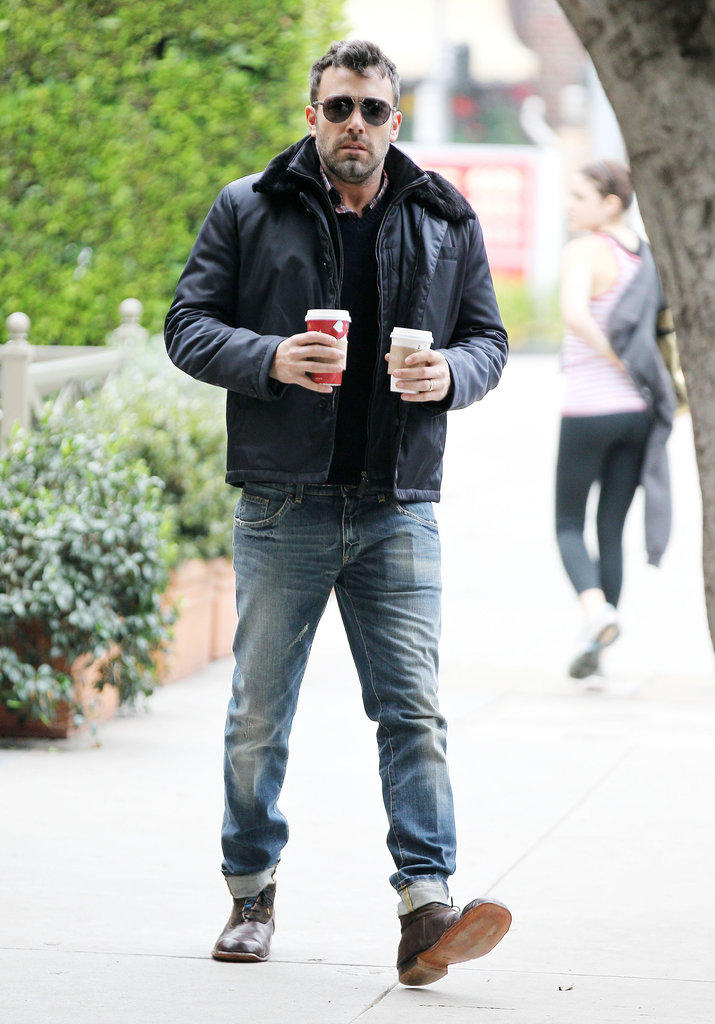 Ben Affleck sported shades for a coffee stop.