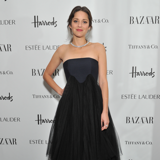 Marion Cotillard and Emily Blunt at Harper's Bazaar Awards