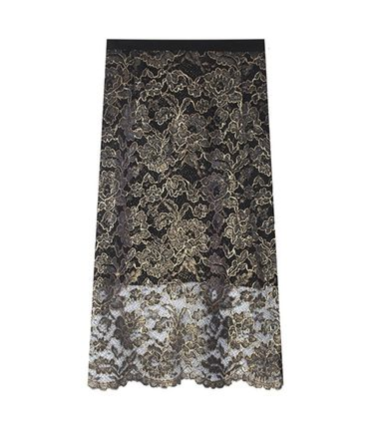 How gorgeous is this opulent Tibi Lace Skirt ($395)? Perfect for wearing with ankle boots and a chunky sweater for a day at the office and with a slinky silk top and heels come nightfall.  — Chi Diem Chau, associate editor
