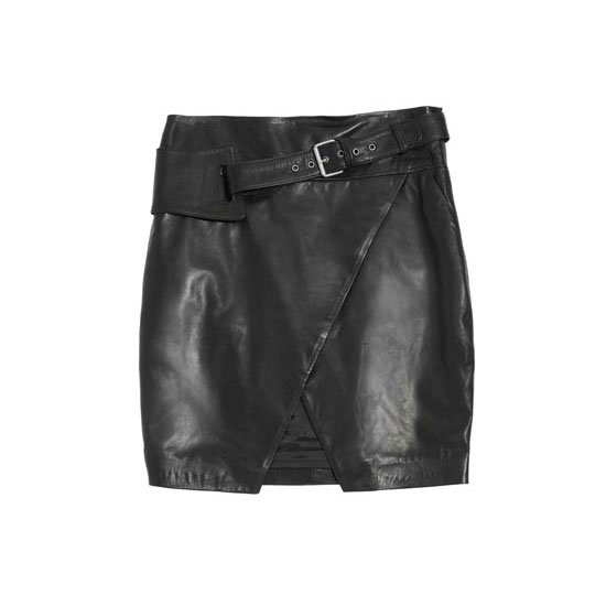 A Sexy-Split Leather Skirt