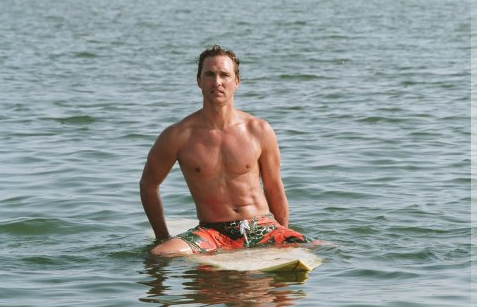 Matthew McConaughey logged plenty of shirtless time for 2006's Failure to Launch.