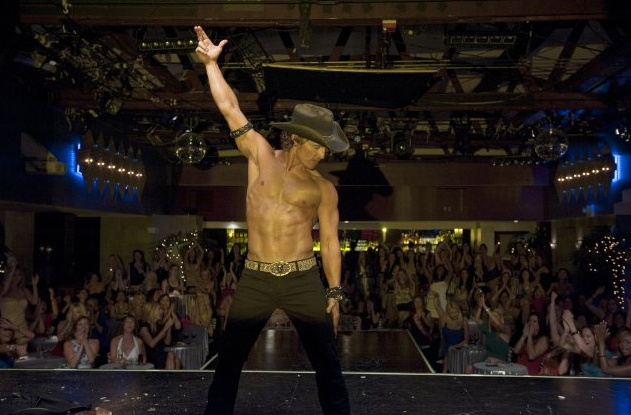Matthew McConaughey took off his shirt in 2012's Magic Mike.