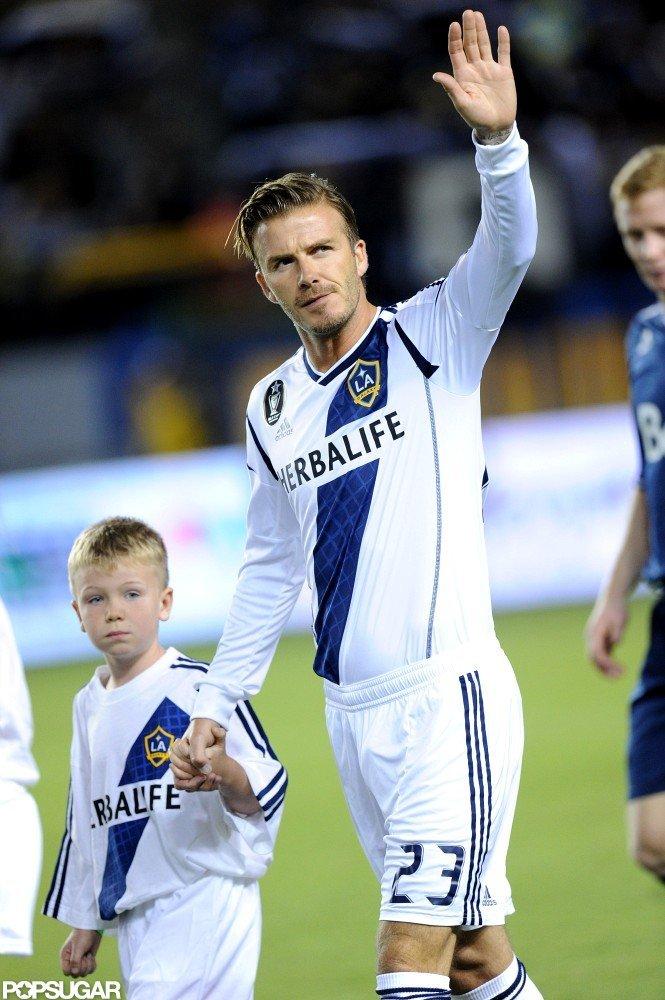 David Beckham hit the field.