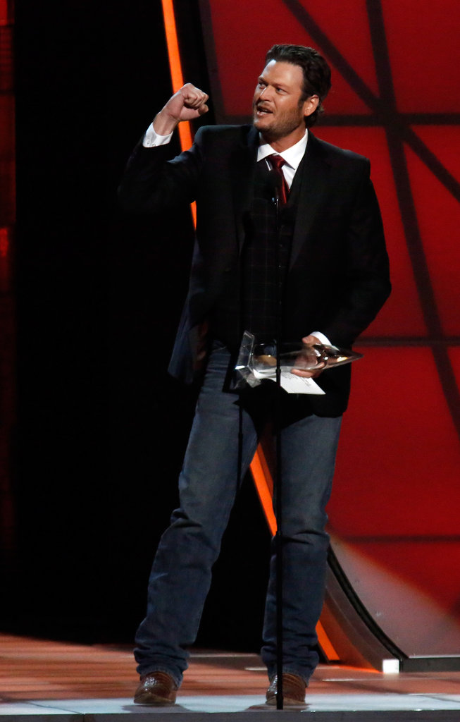 Blake Shelton was on stage at the Country Music Association Awards in Nashville.