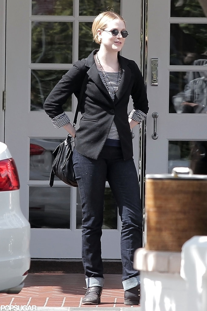 Evan Rachel Wood hung out in LA after getting married.