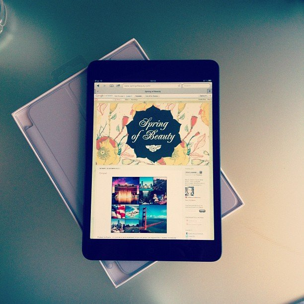 """#ipadmini is so cute"" — eva_leonty Source: Instagram user eva_leonty"