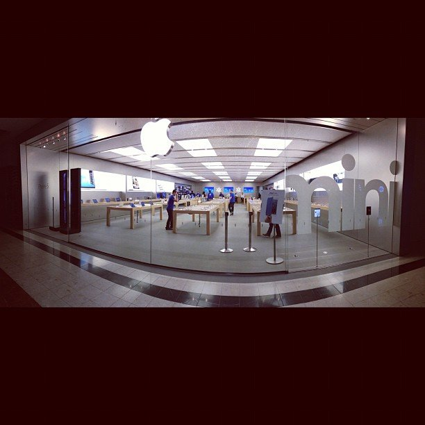 """iPad Mini Launch 8AM with #panorama"" — jeffuy Source: Instagram user jeffuy"