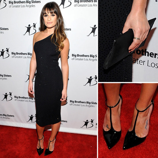 Love Lea Michele's sleek LBD? Get the look right here.