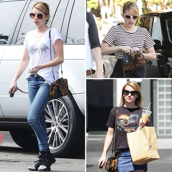 In Love With . . . Emma Roberts's Jérôme Dreyfuss Leopard-Print Bag