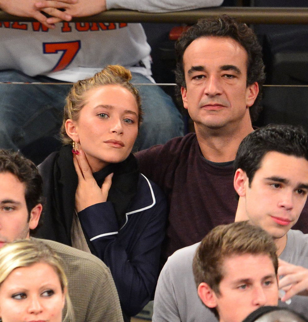 Mary-Kate Olsen and Olivier Sarkozy went to a New York Knicks game together.