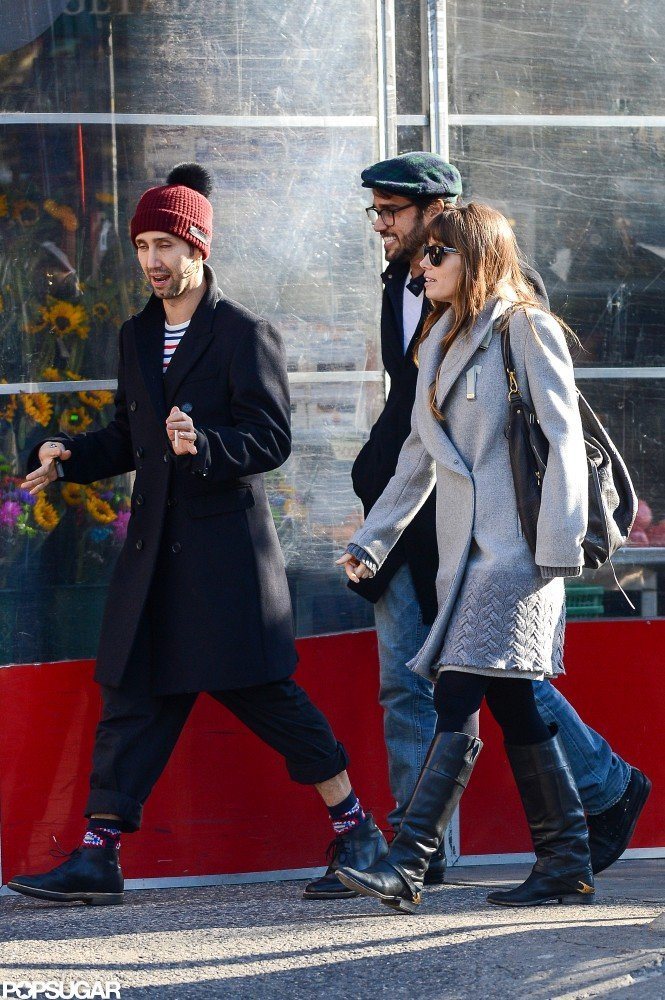Jessica Biel took a walk with friends in NYC.