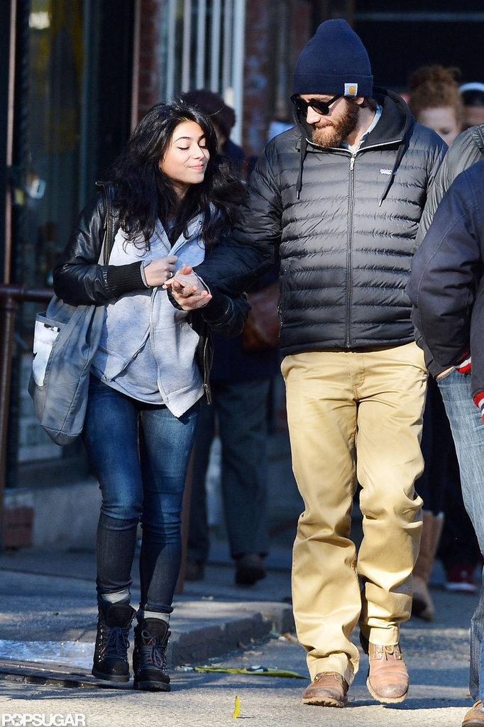 Jake Gyllenhaal held hands with a female friend.
