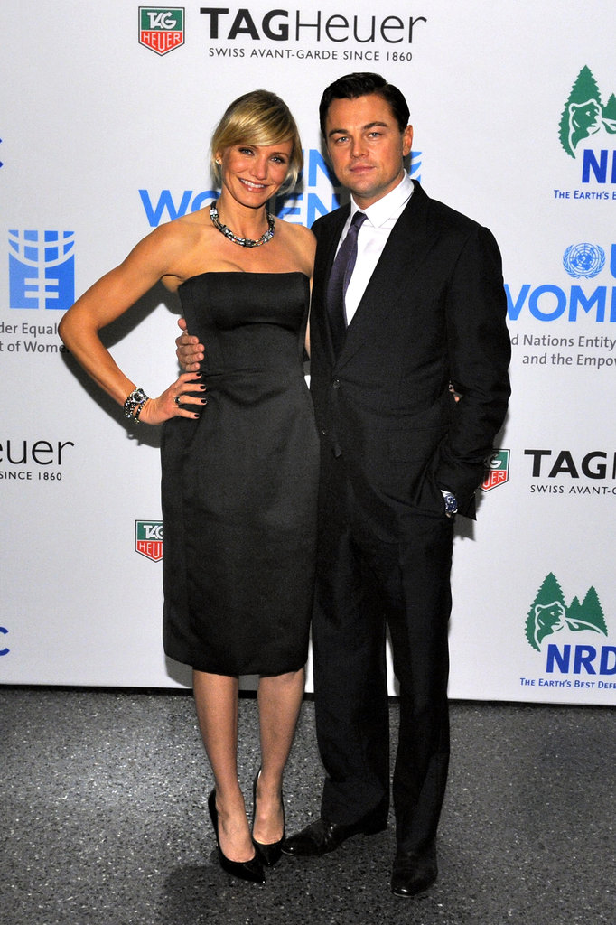 Cameron Diaz and Leonardo DiCaprio attended a Tag Heuer event in November 2012.