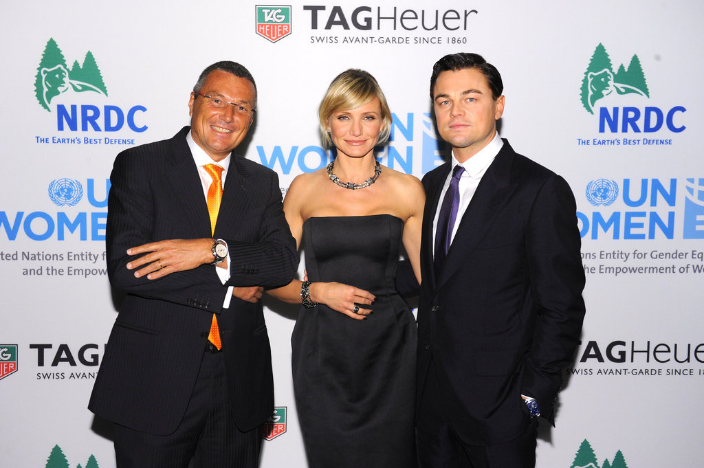 Jean-Christophe Babin, Cameron Diaz, and Leonardo DiCaprio got together in NYC.