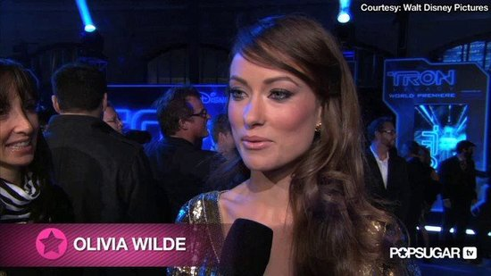 Olivia Wilde's Tron-Inspired Language