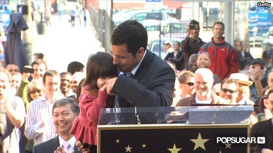 "Video: Adam Sandler's Daughters Steal the Show at His Star Ceremony, ""I Love My Daddy!"""