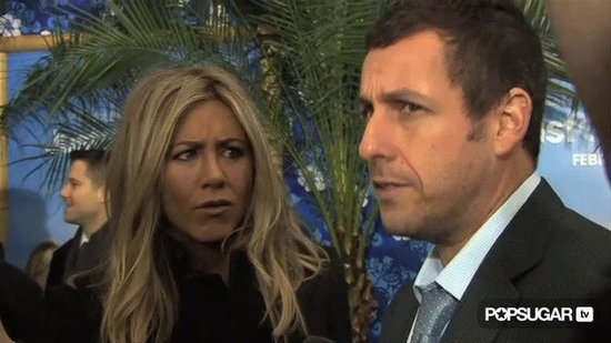 Video: Ladylike Jennifer and Adam Sandler Joke About Telling White Lies For Love!