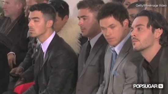 Video: Zac Efron, Kellan Lutz, and Joe Jonas Raise Eyebrows at Fashion Week!