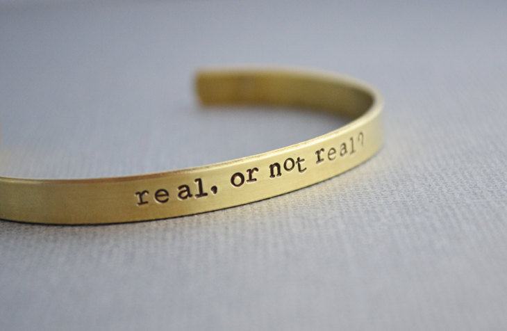 Real or Not Real Cuff Bracelet ($18)