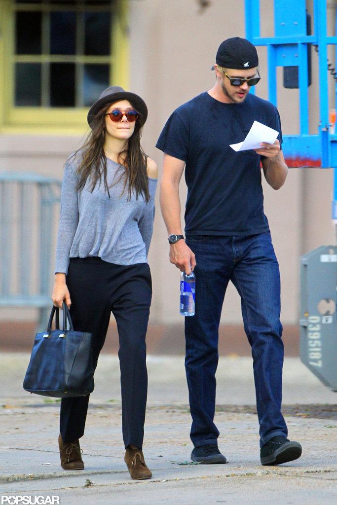 Elizabeth Olsen took a walk with Boyd Holbrook.